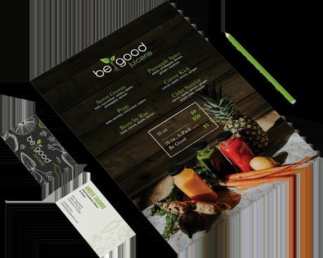 branding applications for begood juicerie