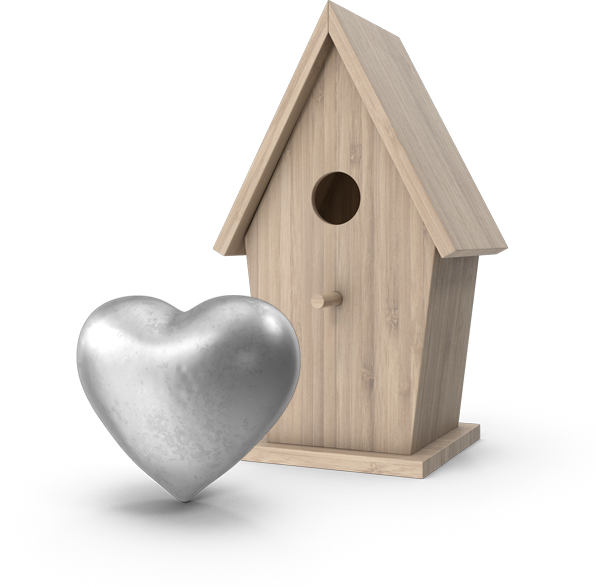 heart and home conceptual image